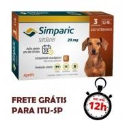 Antipulgas Simparic 20 Mg Para Cães 5.1 A 10 Kg 03 Unidades