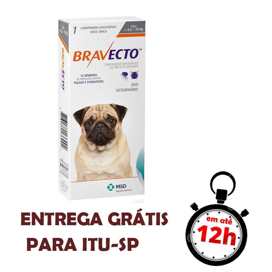 Antipulgas E Carrapatos Bravecto Msd Para Cães De 4.5 A 10 Kg