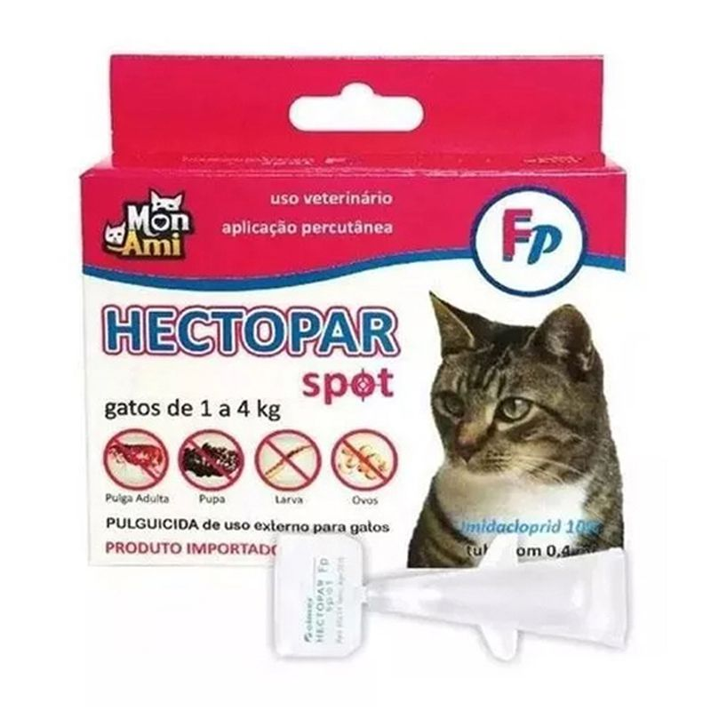 Antipulgas Gatos Hectopar (0.4 Ml) 1 A 4 Kg