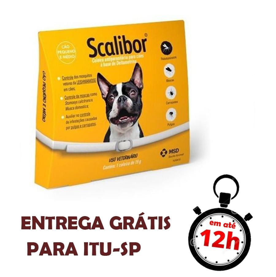 Coleira Antiparasitária Msd Para Cães 48 Cm