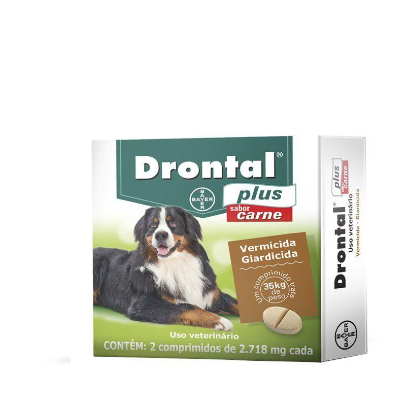 Drontal Plus Cães 35 Kg (Carne)