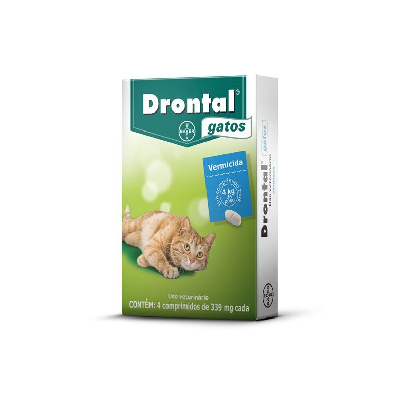 Drontal Plus Gatos (04 Comprimidos)