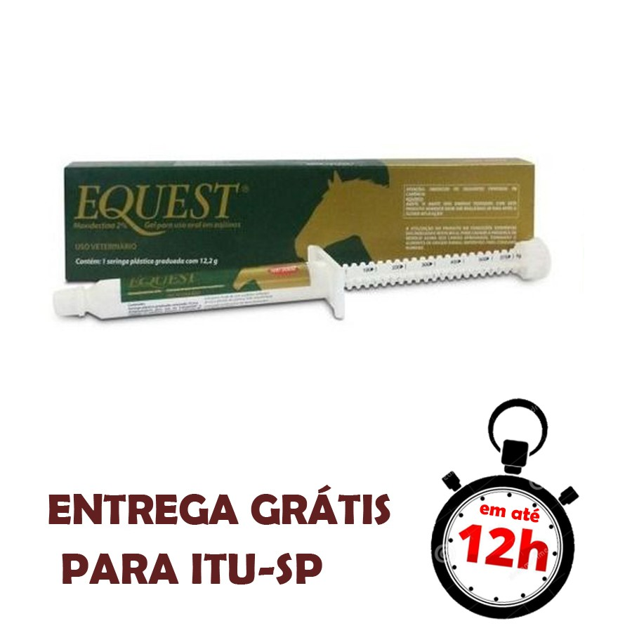 Equest  2 % Gel Vermifugo Oral Equinos Zoetis Gel 12,2G
