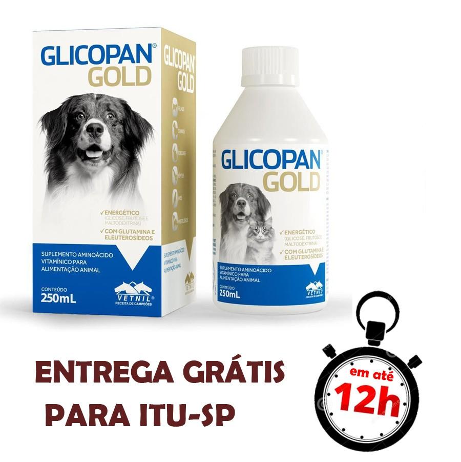 Glicopan Pet Gold Suplemento Vitamínico Mineral Aminoácido