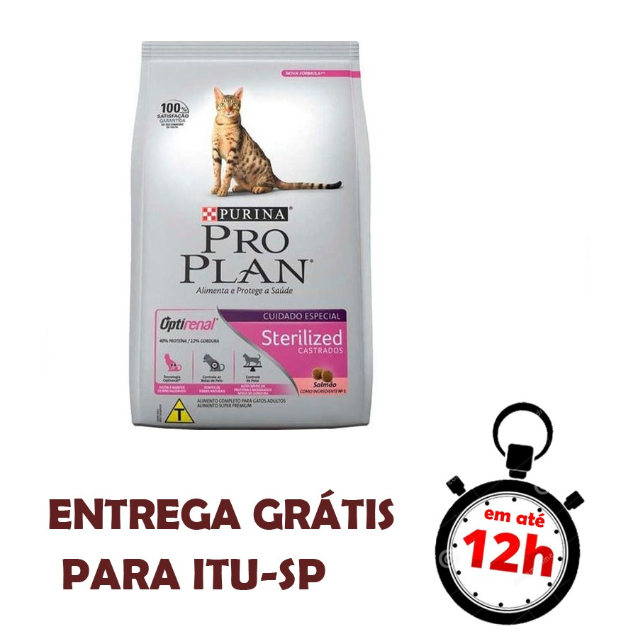 Proplan Gato Sterilized Castrados Salmão 1,5 Kg