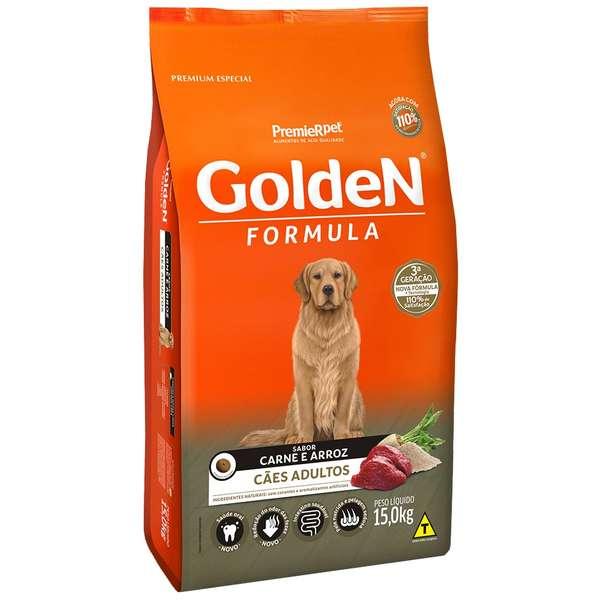 Ração Golden Carne E Arroz Para Cães Adultos Premium Especial 15Kg