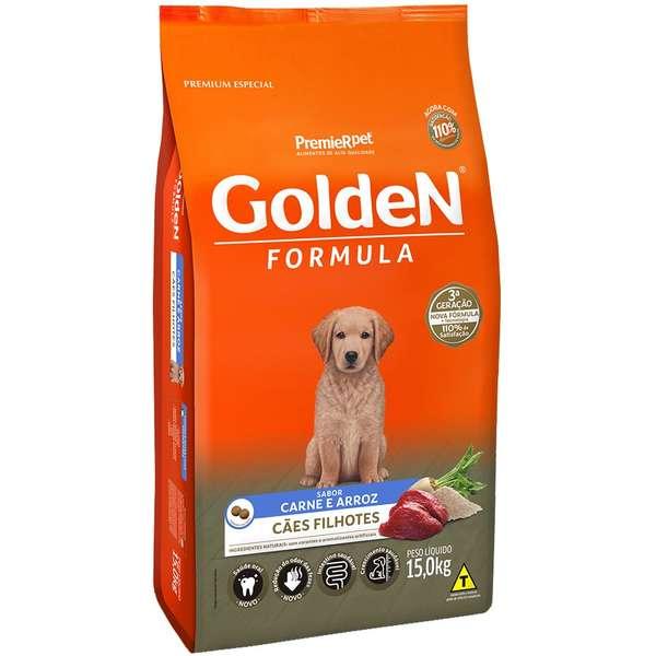 Ração Golden Carne E Arroz Para Cães Filhotes Premium Especial 15Kg