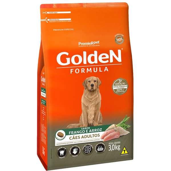 Ração Golden Frango E Arroz Para Cães Adultos Premium Especial