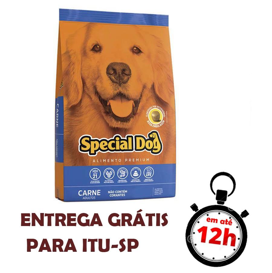 Ração Special Dog Carne Para Cães Adultos Premium