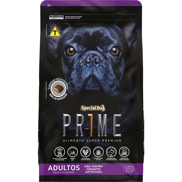 Ração Special Dog Prime Raças Pequenas Para Cães Adultos Super Premium