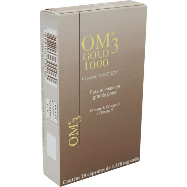 Suplemento Alimentar Om3 Gold Ômega 3, Ômega 6, Ômega 9 E Vitamina E