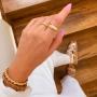Bracelete ajustável trançado banhado a ouro 18k