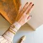 Bracelete de tubo Paola banhado a ouro 18k