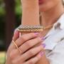 Bracelete trabalhado ajustável prata