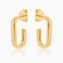 Brinco de argola quadrada Giulia banhado a ouro 18k