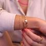 Pulseira de elos finos com zircônias banhada a ouro 18k