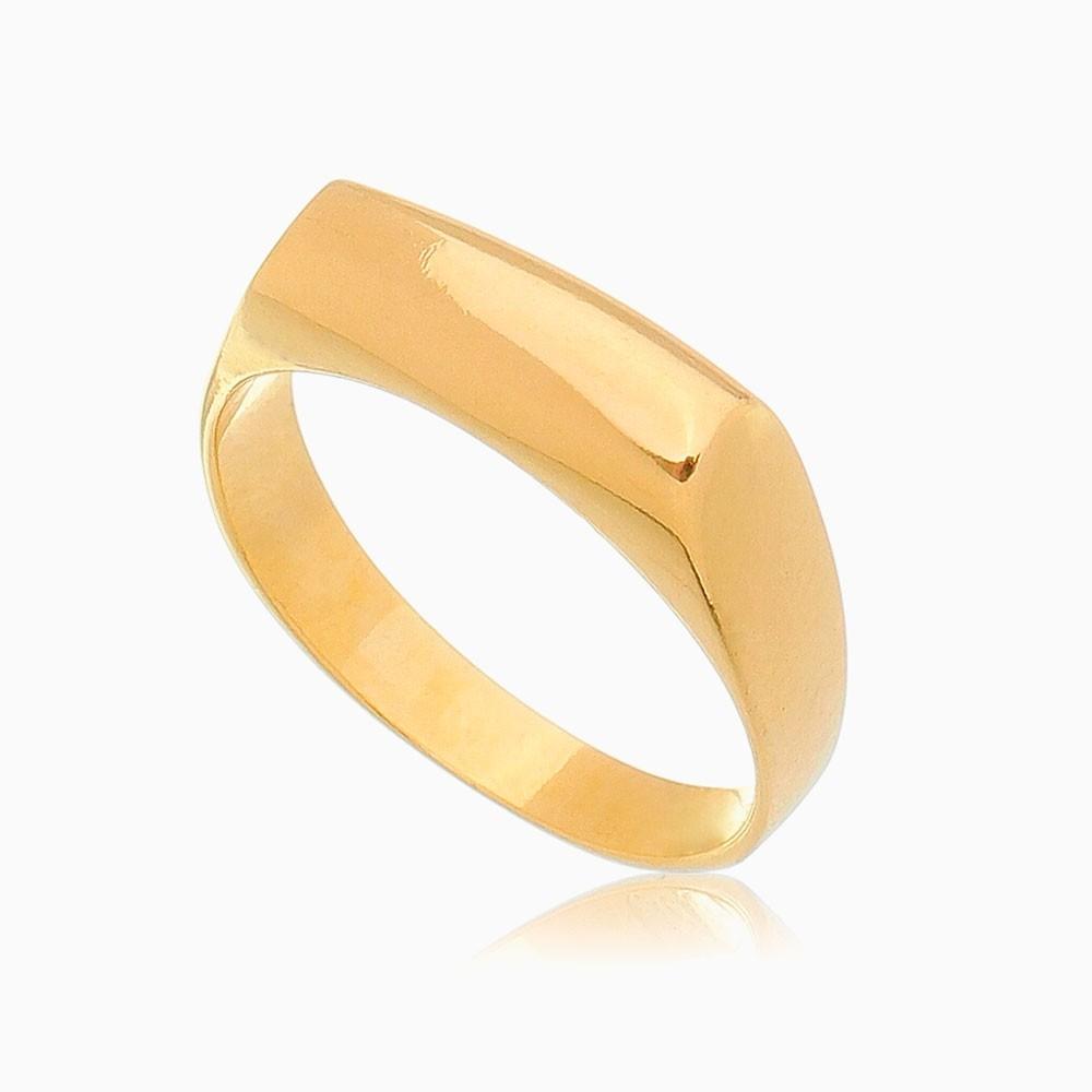 Anel abaulado clássico banhado a ouro 18k