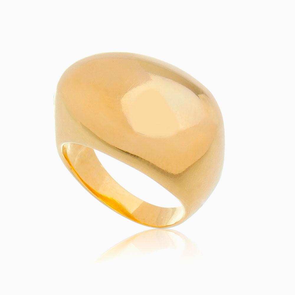 Anel abaulado banhado a ouro 18k
