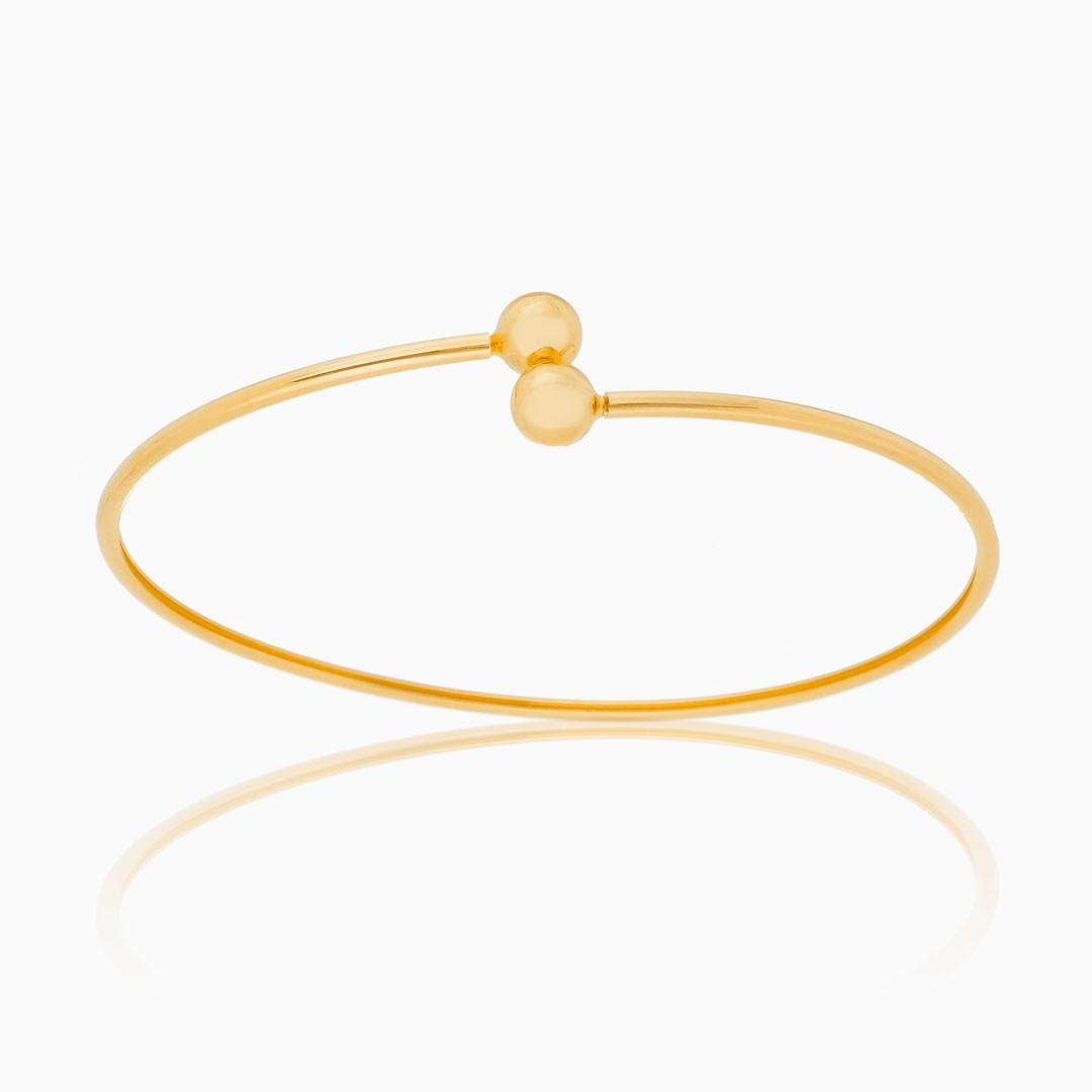 Bracelete Antonella com bola banhado a ouro 18k