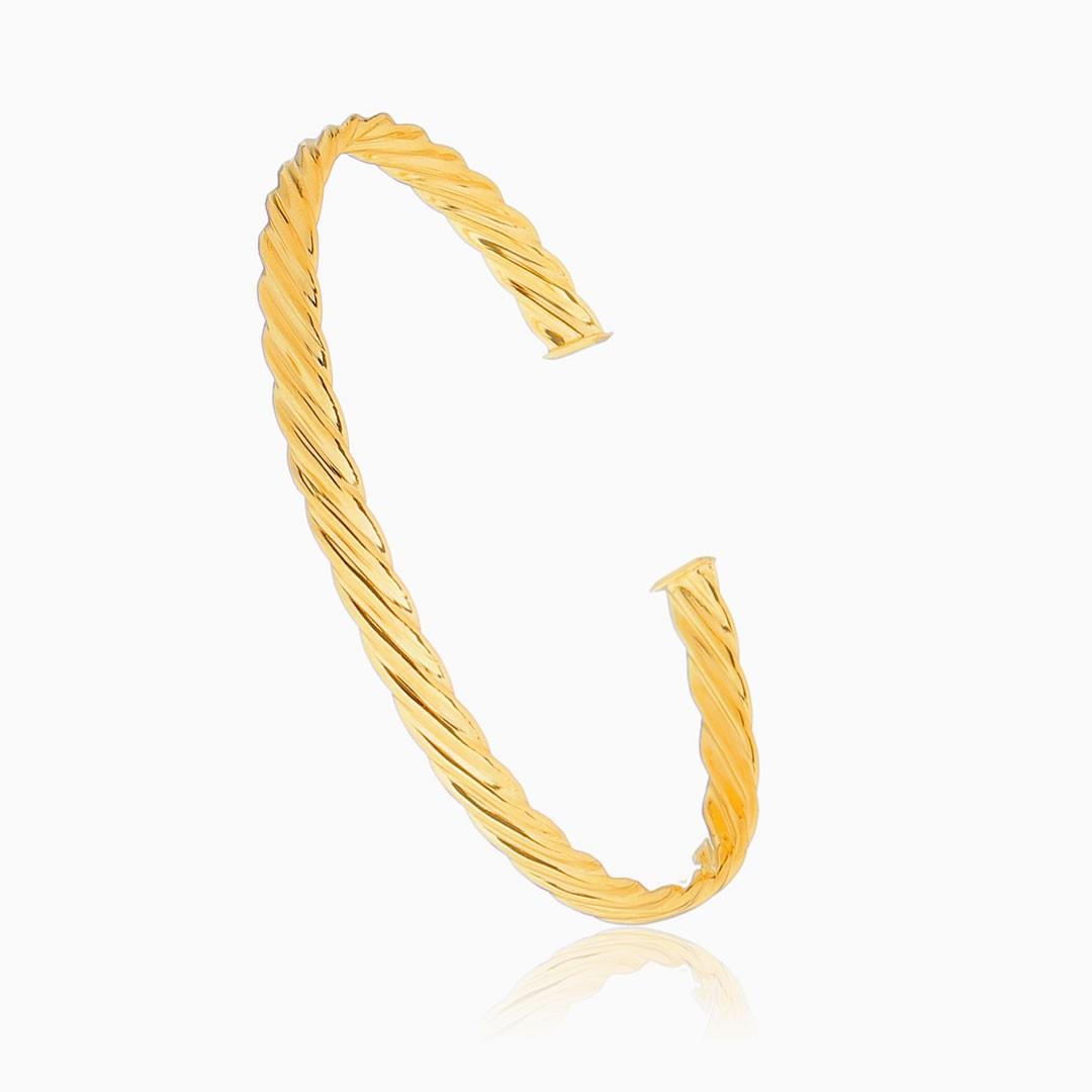 Bracelete trançado banhado à ouro 18k