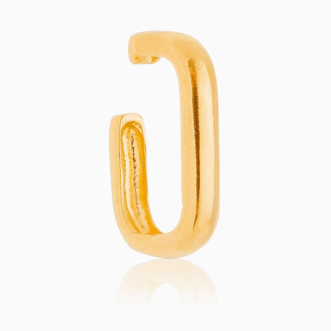 Brinco de encaixe Isa banhado a ouro 18k