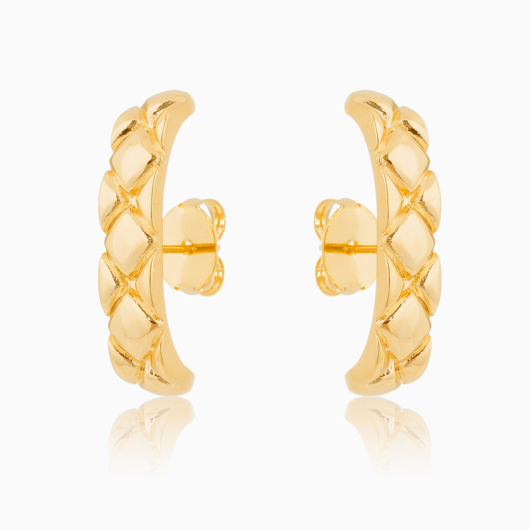 Brinco ear cuff Camila banhado a ouro 18k