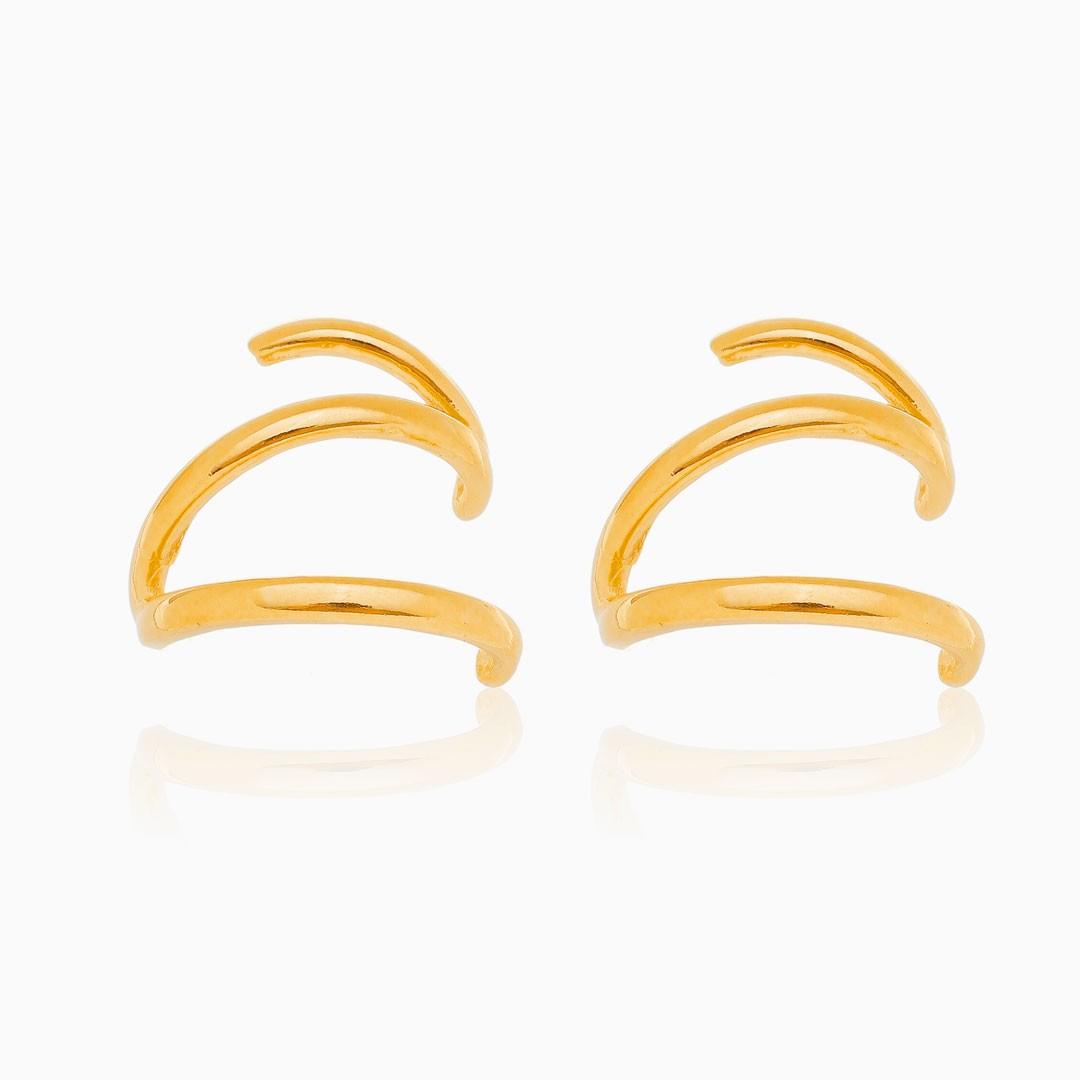 Brinco Thaís ear cuff banhado a ouro 18k