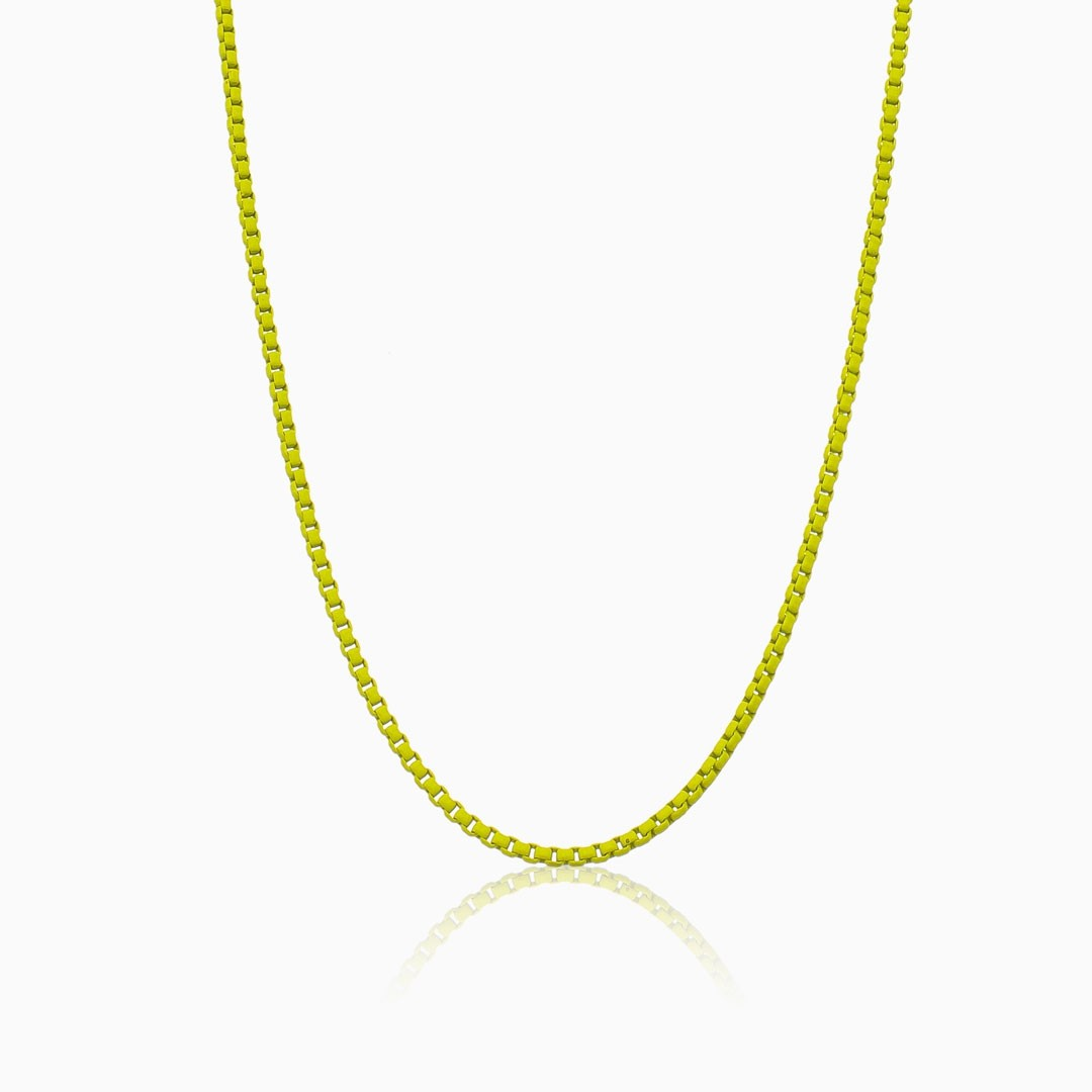 Colar amarelo neon color pop