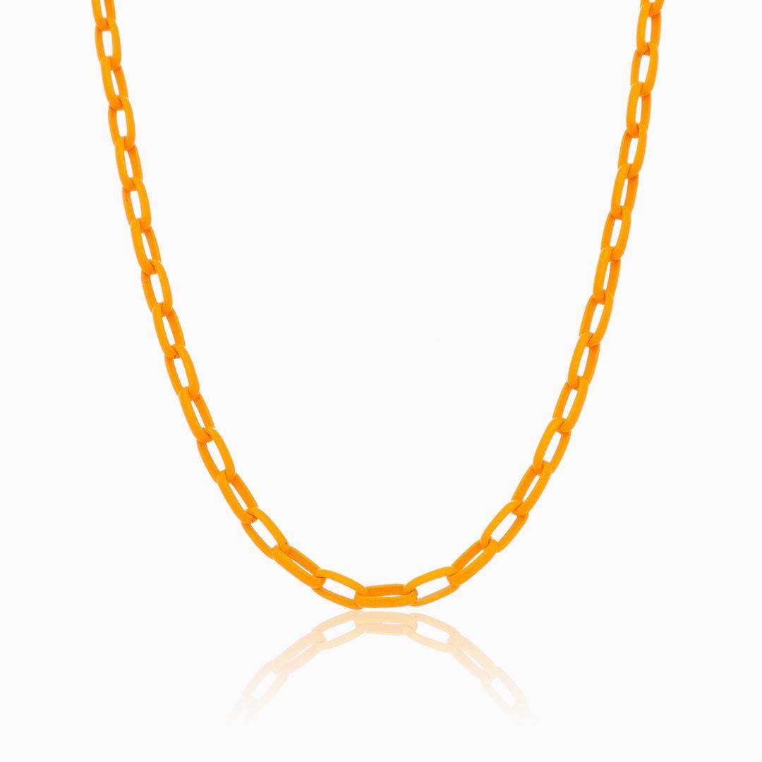 colar de elos médio laranja color pop