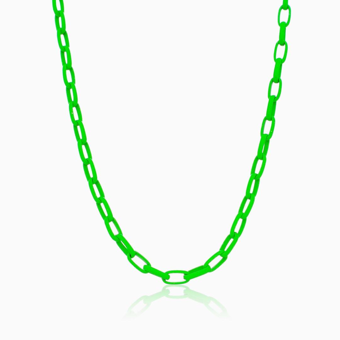 Colar elos médio verde color pop