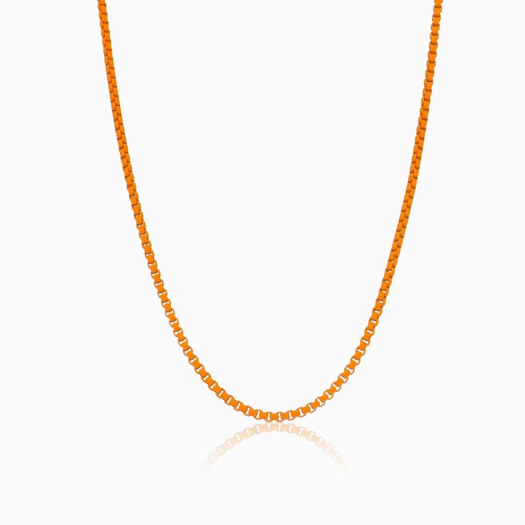 Colar laranja neon color pop