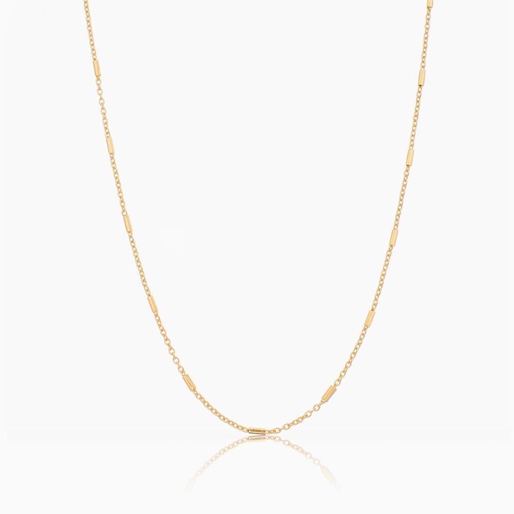Colar Lívia canudo banhado a ouro 18k