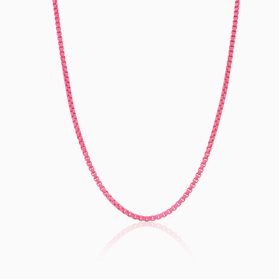 Colar rosa neon color pop