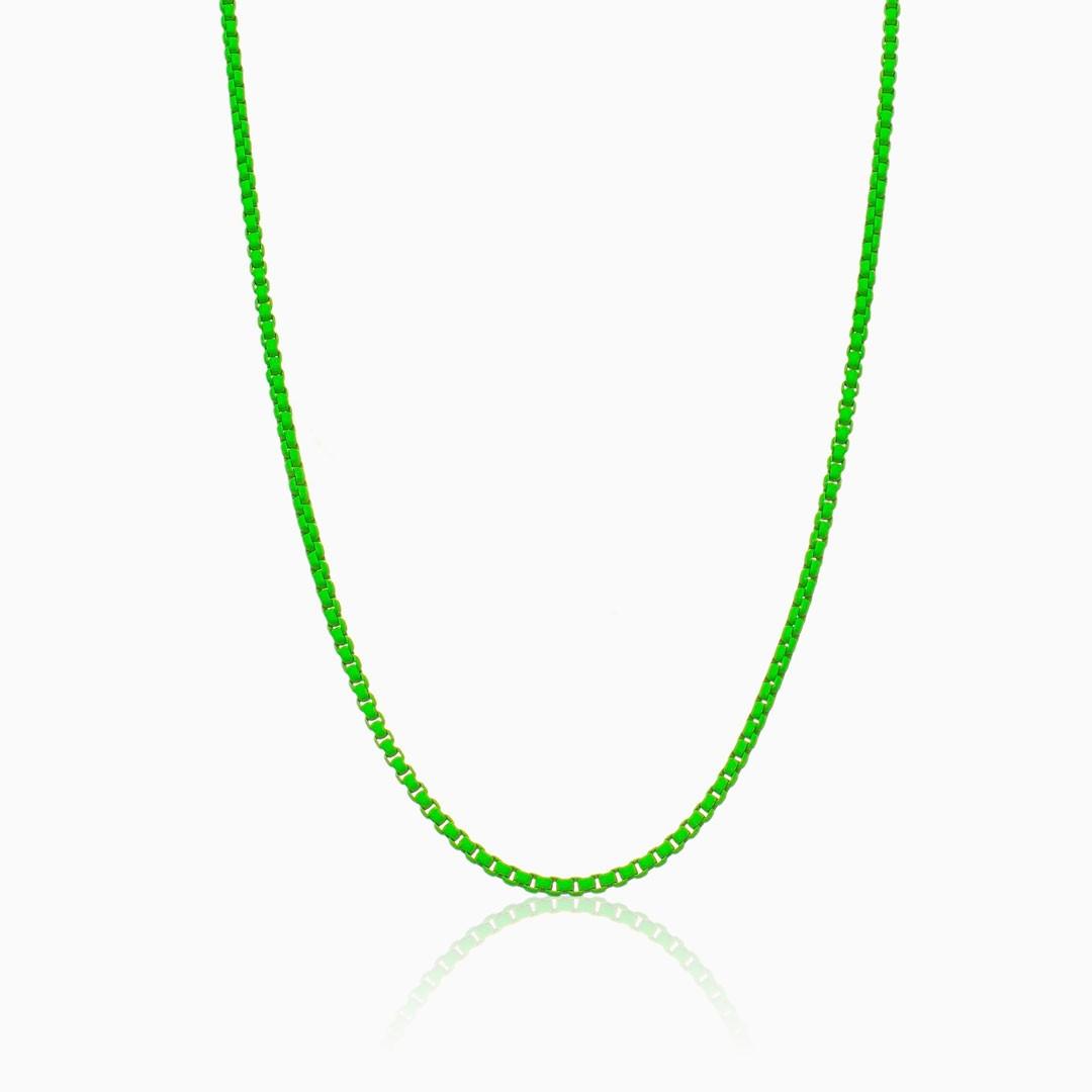 Colar verde color pop