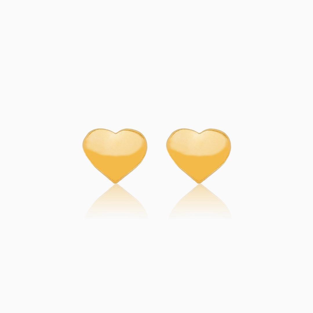 Kit com 4 Brincos delicados banhados a ouro 18k