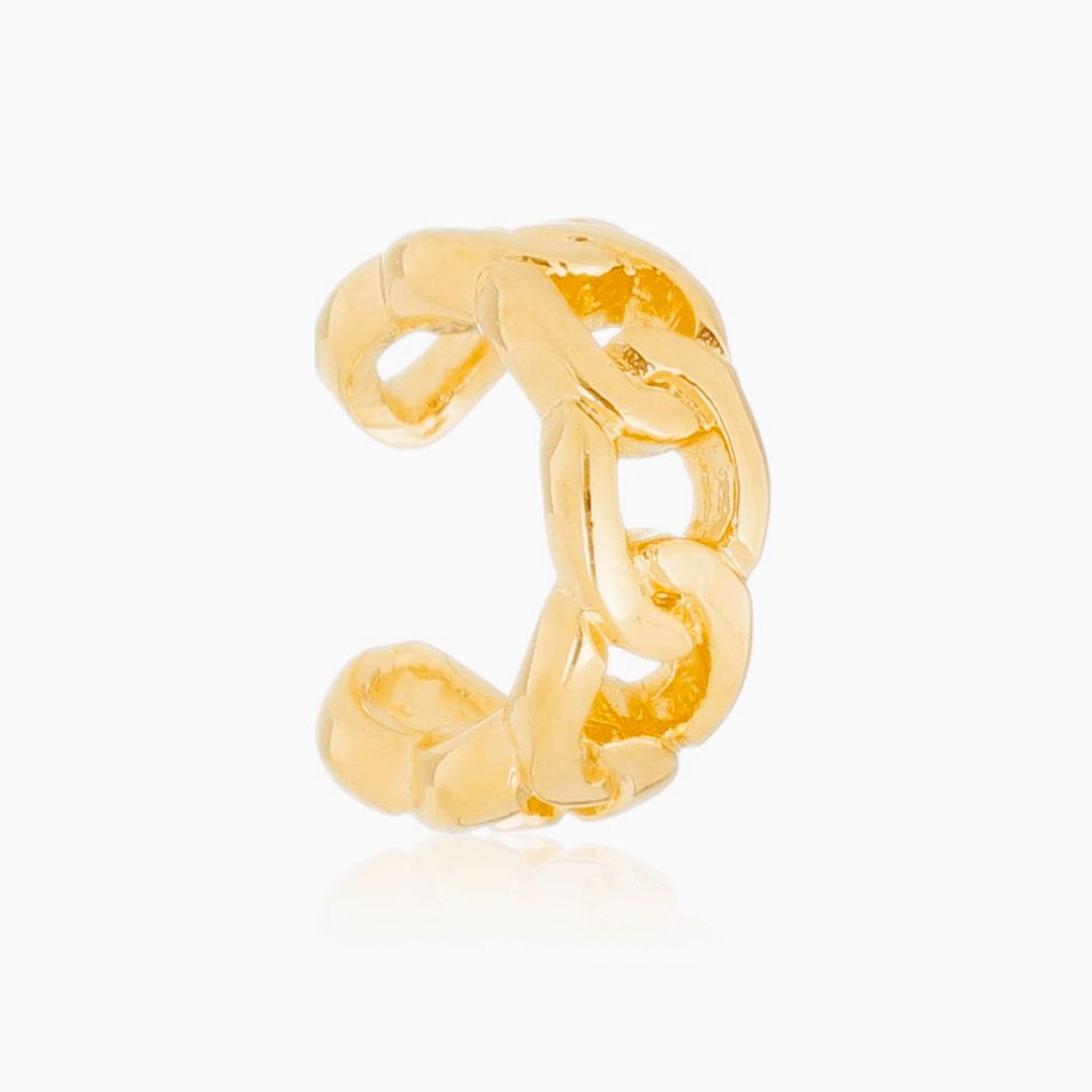 Piercing de elos banhado a ouro 18k