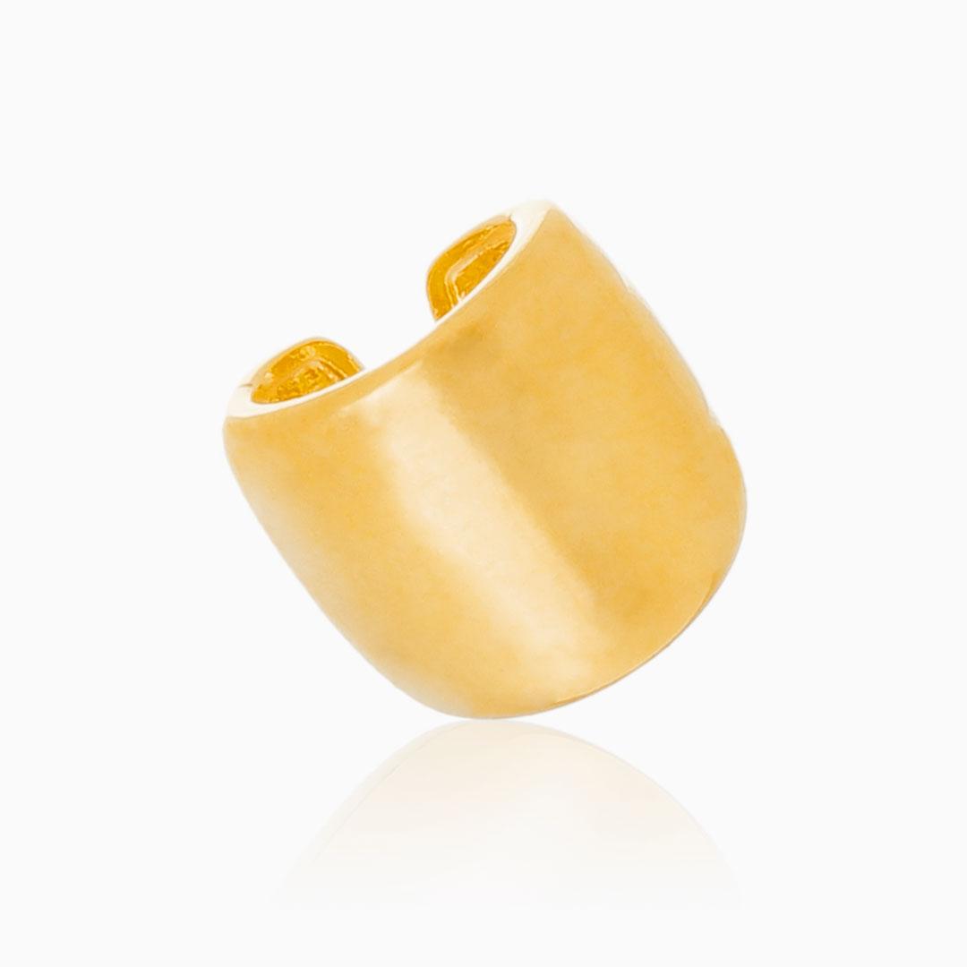 Piercing de encaixe ajustável tubo liso banhado a ouro 18k