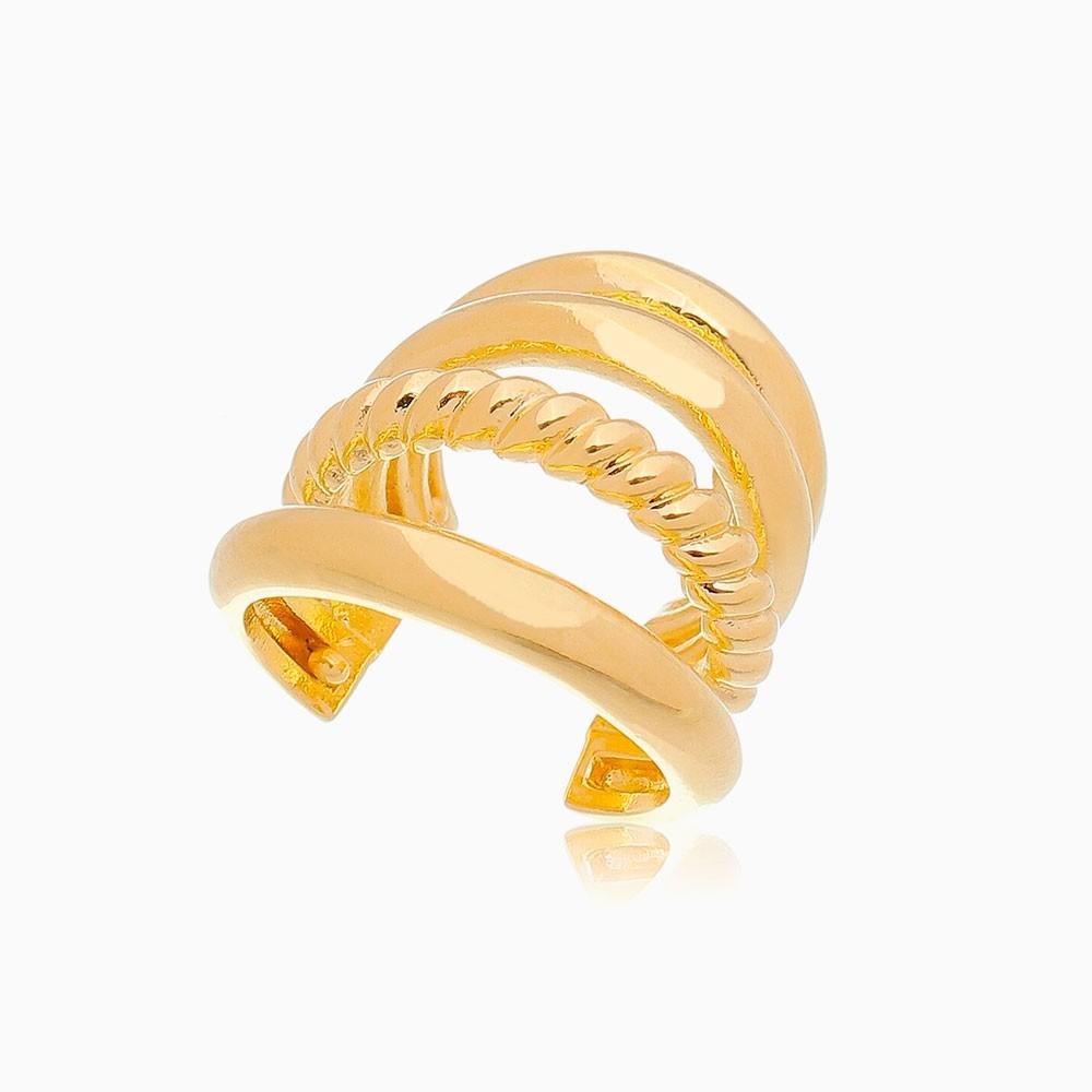 Piercing quadruplo corda banhado a ouro 18k