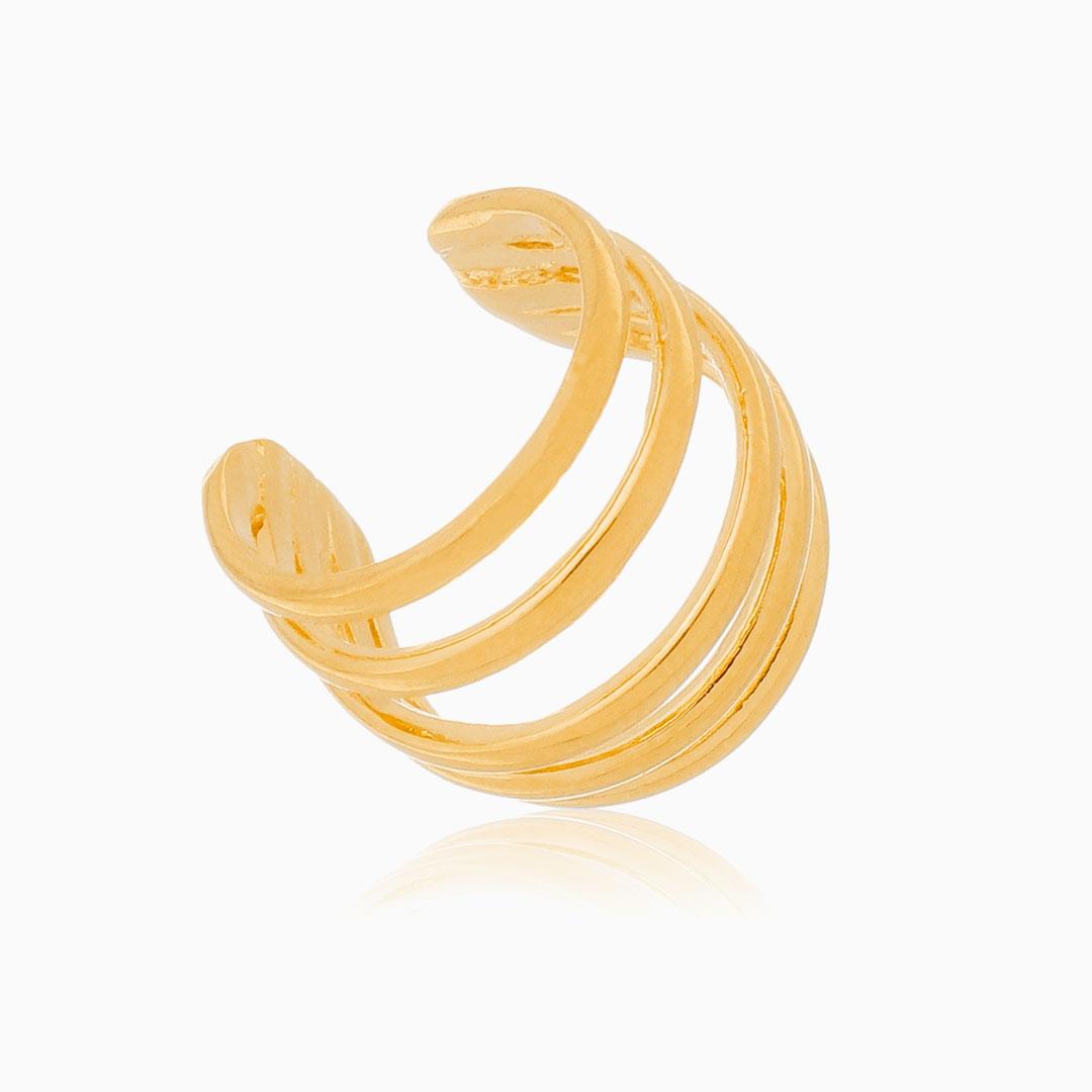 Piercing quíntuplo banhado a ouro 18k