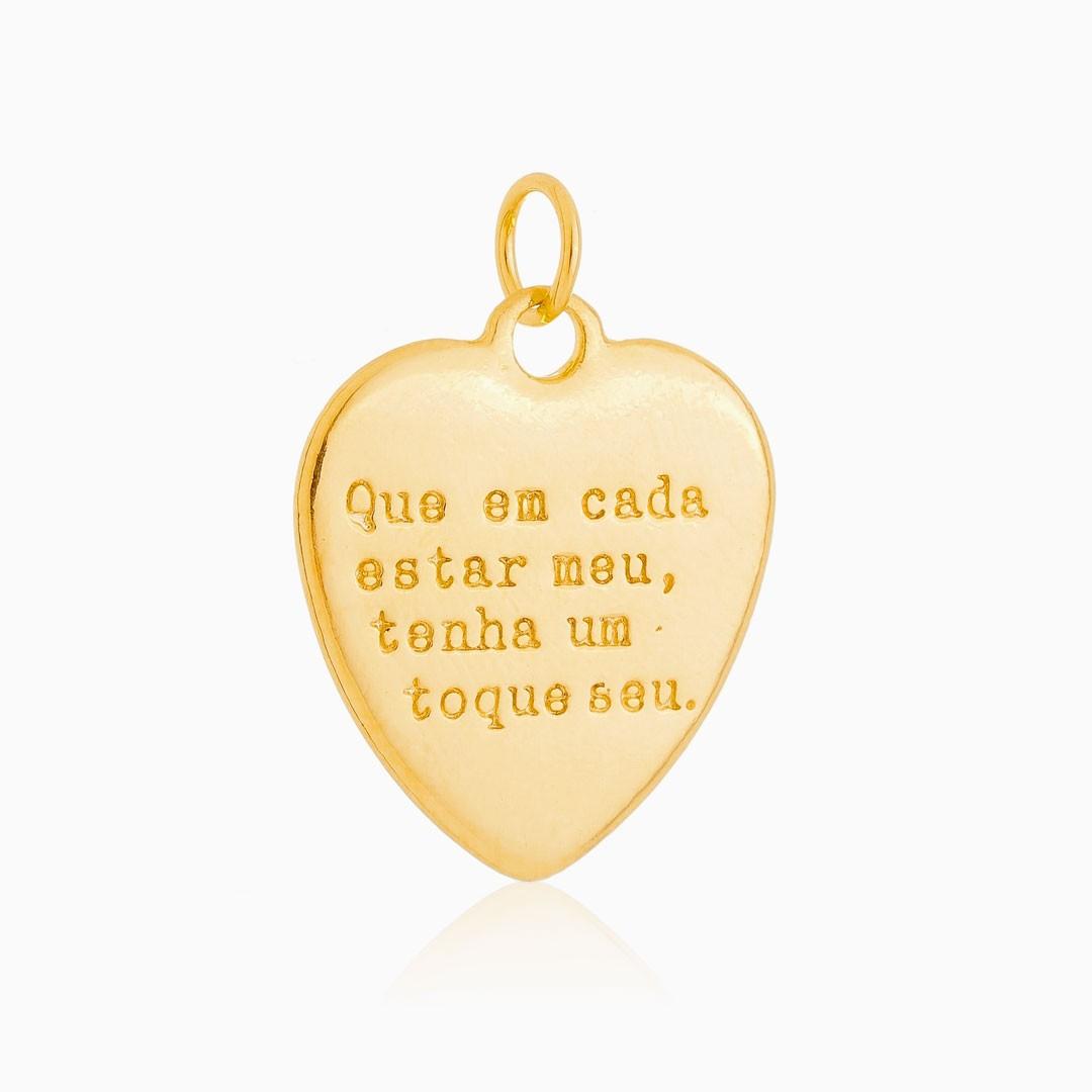 Pingente Amor com digital banhado a ouro 18k