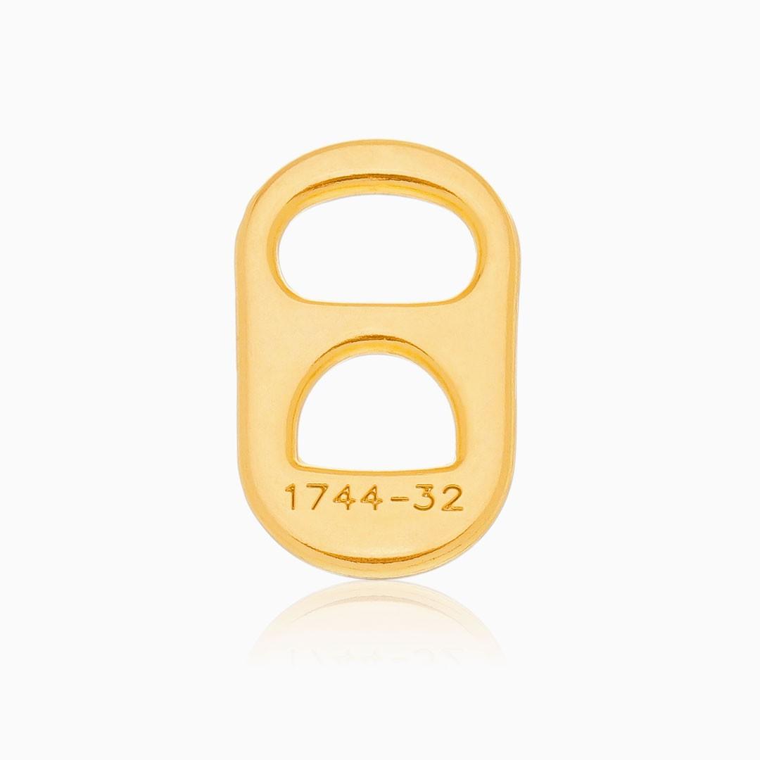 Pingente de lacre banhado a ouro 18k