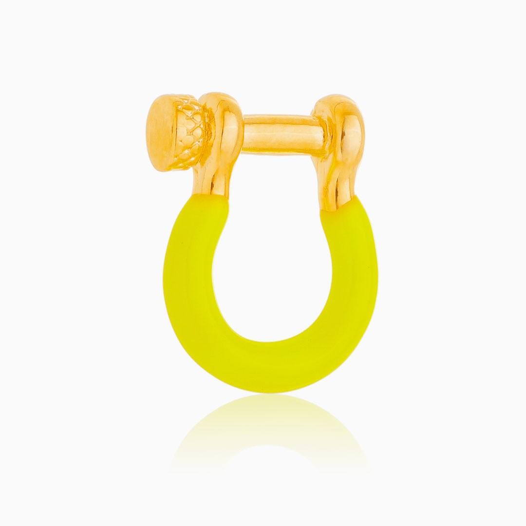 Pingente de torniquete neon banhado a ouro 18k