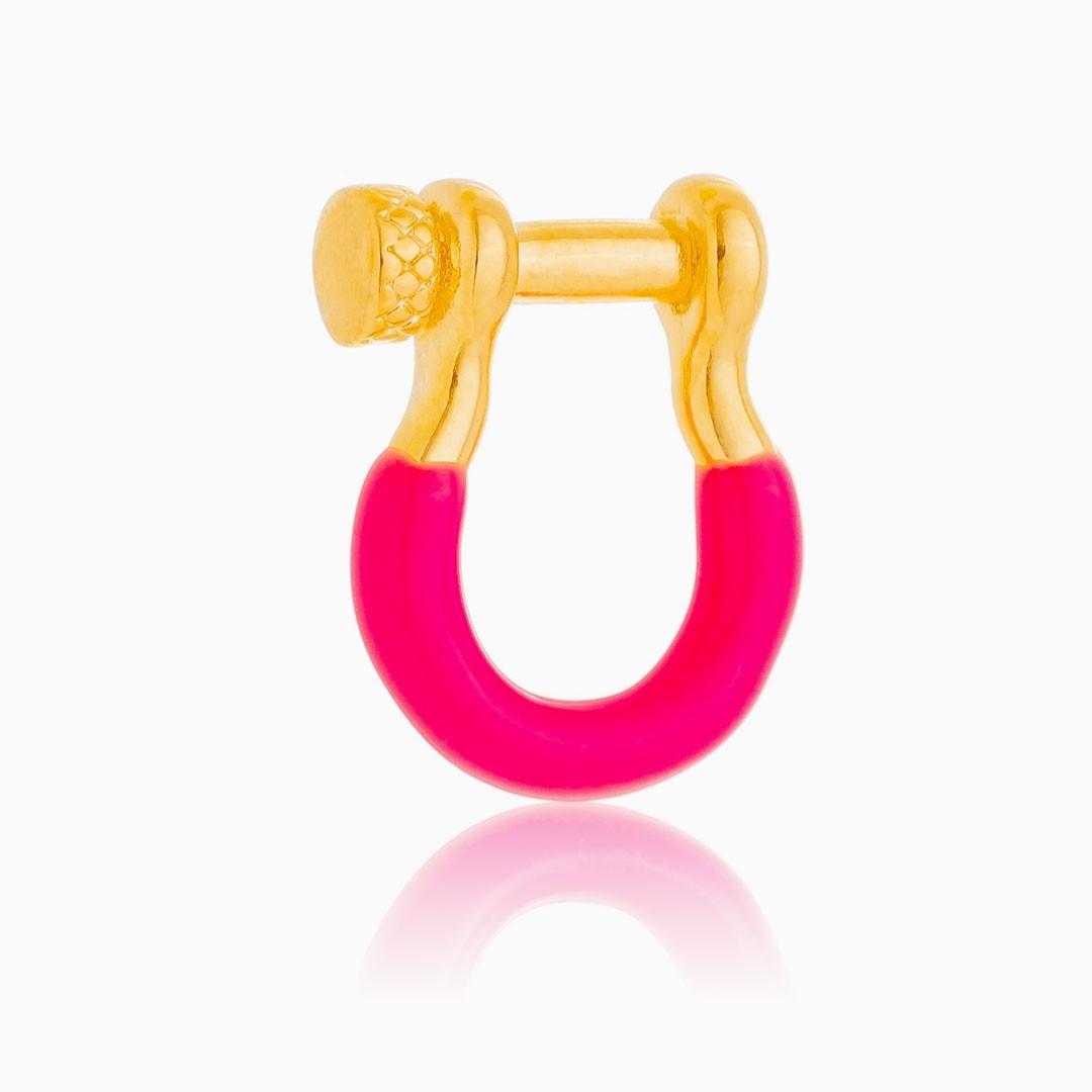Pingente de torniquete rosa banhado a ouro 18k