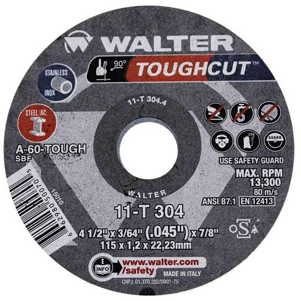 DISCO DE CORTE TOUGHCUT 4-1/2 X 3/64 X 7/8 - 11T304.4 WALTER