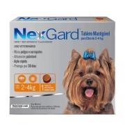 Nexgard para Cães entre 2 e 4kg - 1 Tablete