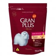 Ração Gran Plus Mini Frango e Arroz Para Cães Adultos para Raças Pequenas - 3kg