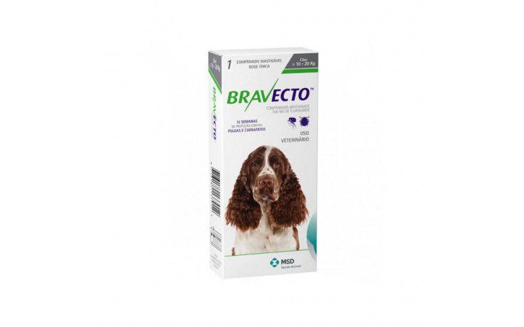 Antipulgas e Carrapatos Bravecto para Cães de 10Kg a 20Kg