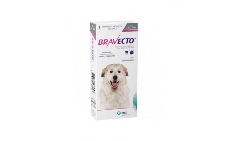 Antipulgas e Carrapatos Bravecto para Cães de 40Kg a 56Kg