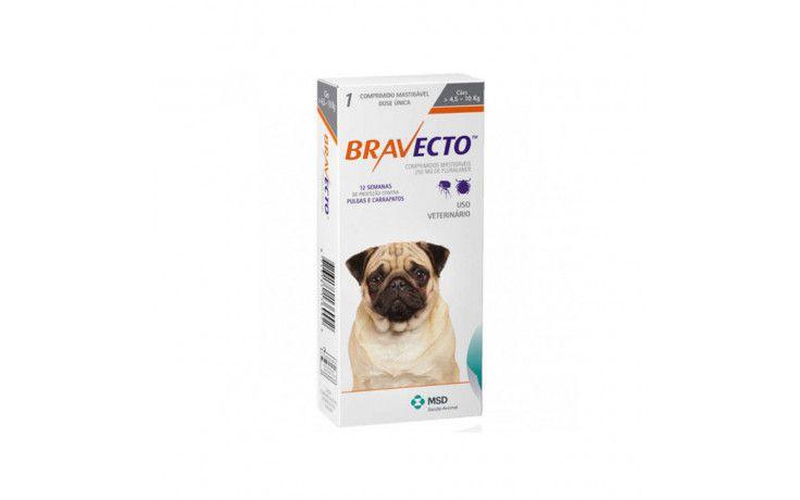 Bravecto para Cães  Antipulgas e Carrapatos de 4,5 a 10kg