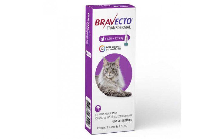 Bravecto Para Gatos Anti Pulgas E Carrapatos 6,25 A 12,5kg